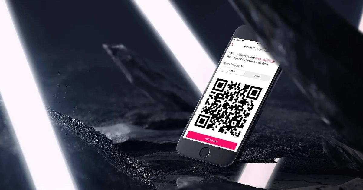 Kod QR w aplikacji Zrzutka.pl