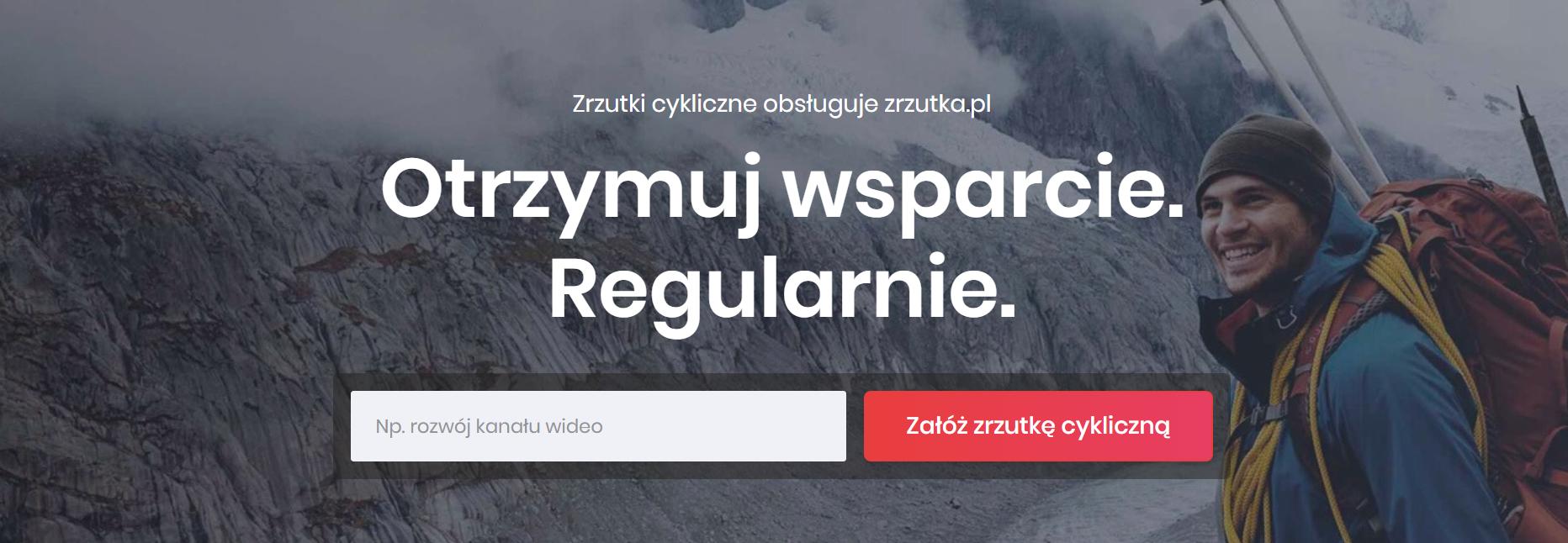 """Zrzutka.pl prezentuje """"zrzutki cykliczne""""."""