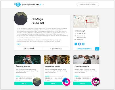 profil fundacji pomagam.zrzutka.pl