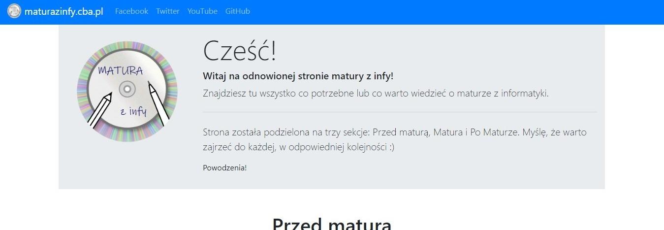 Serwer i certyfikat dla strony maturazinfy.cba.pl i przyszłych projektów