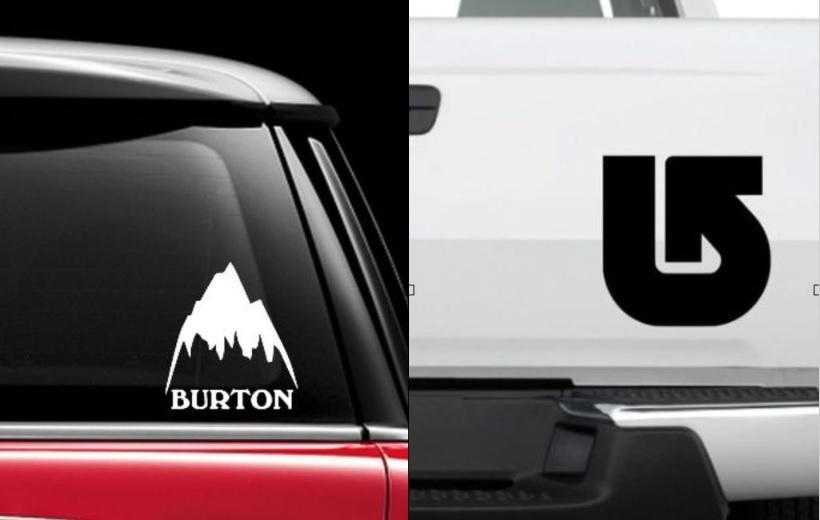 Duża wlepa Burton na deskę, auto itp.