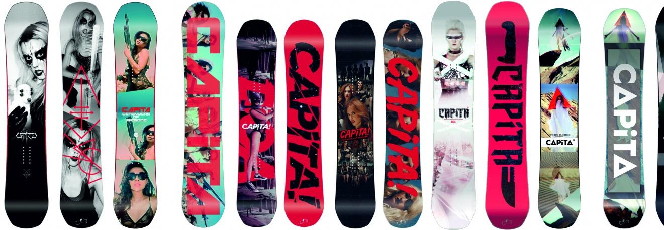 Kolekcja desek snowboardowych na ścianie. Brakuje jednej z Włoch!