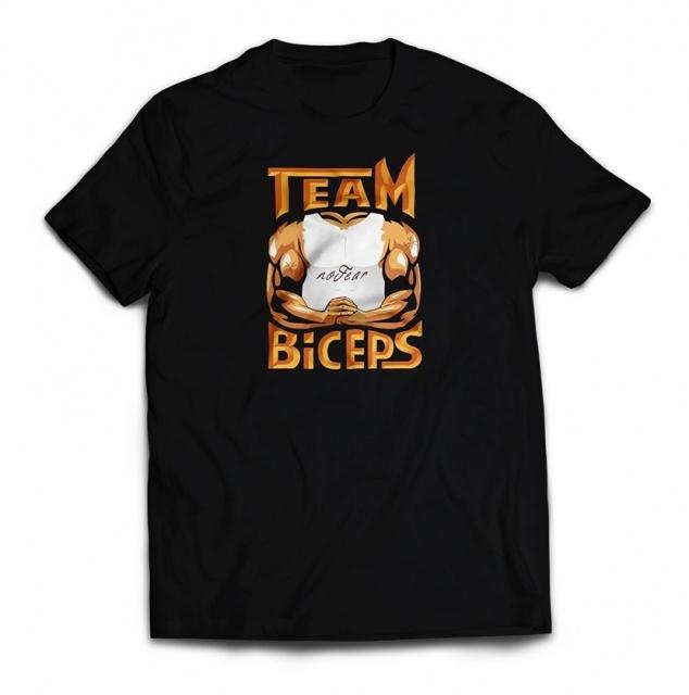 """Koszulka Team Biceps z podpisem Filipa """"NEO"""" Kubskiego - czarna/biała"""