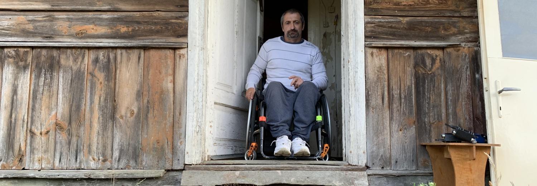 Wózek inwalidzki dla Irka