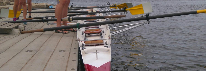 Łódź wioślarska 8 ze sternikiem
