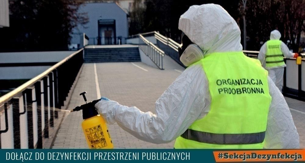 Projekt #SekcjaDezynfekcja. Nowy etap walki z wirusem | zrzutka.pl