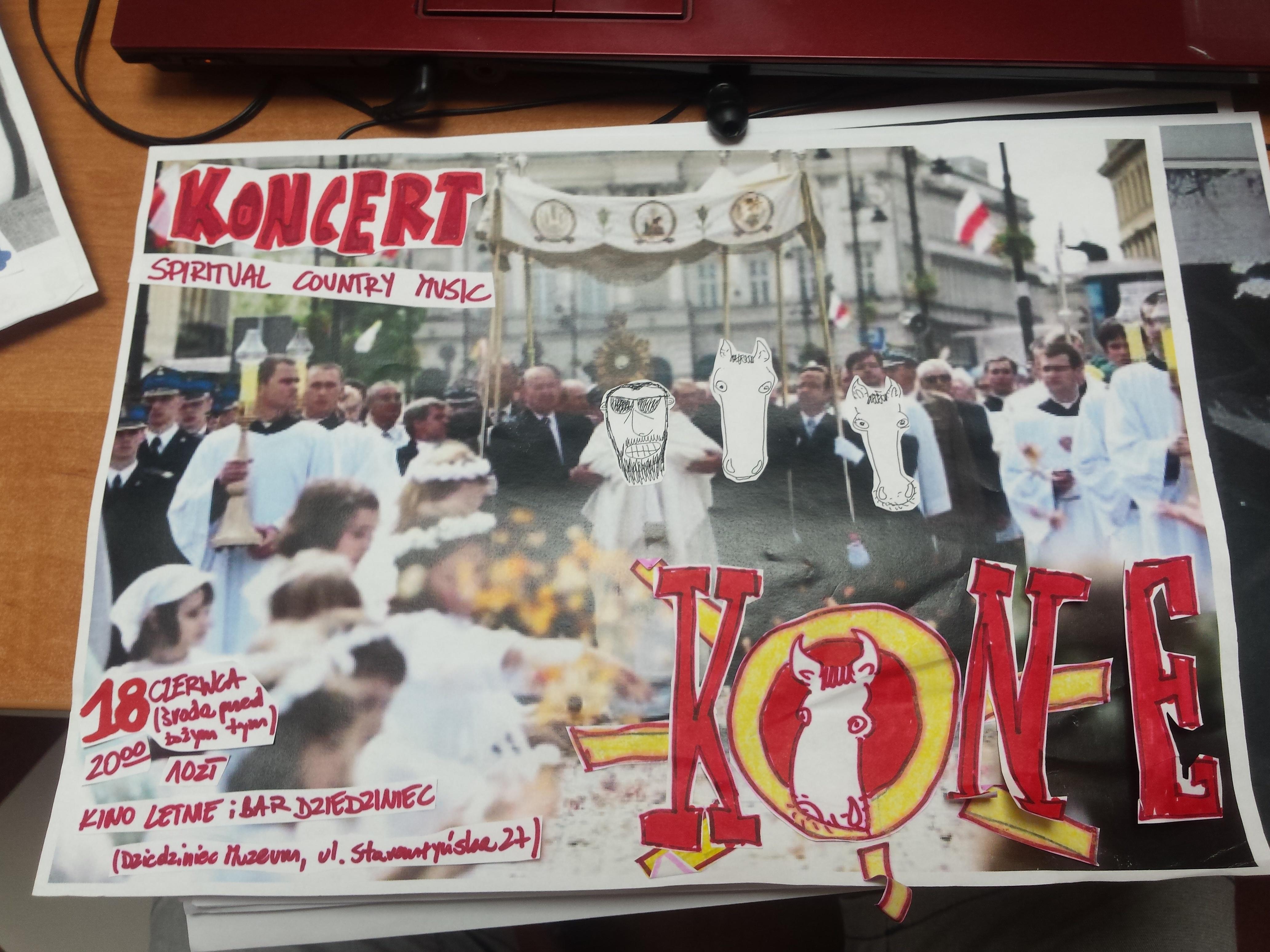 oridżinal handmade collage plakat poster A4