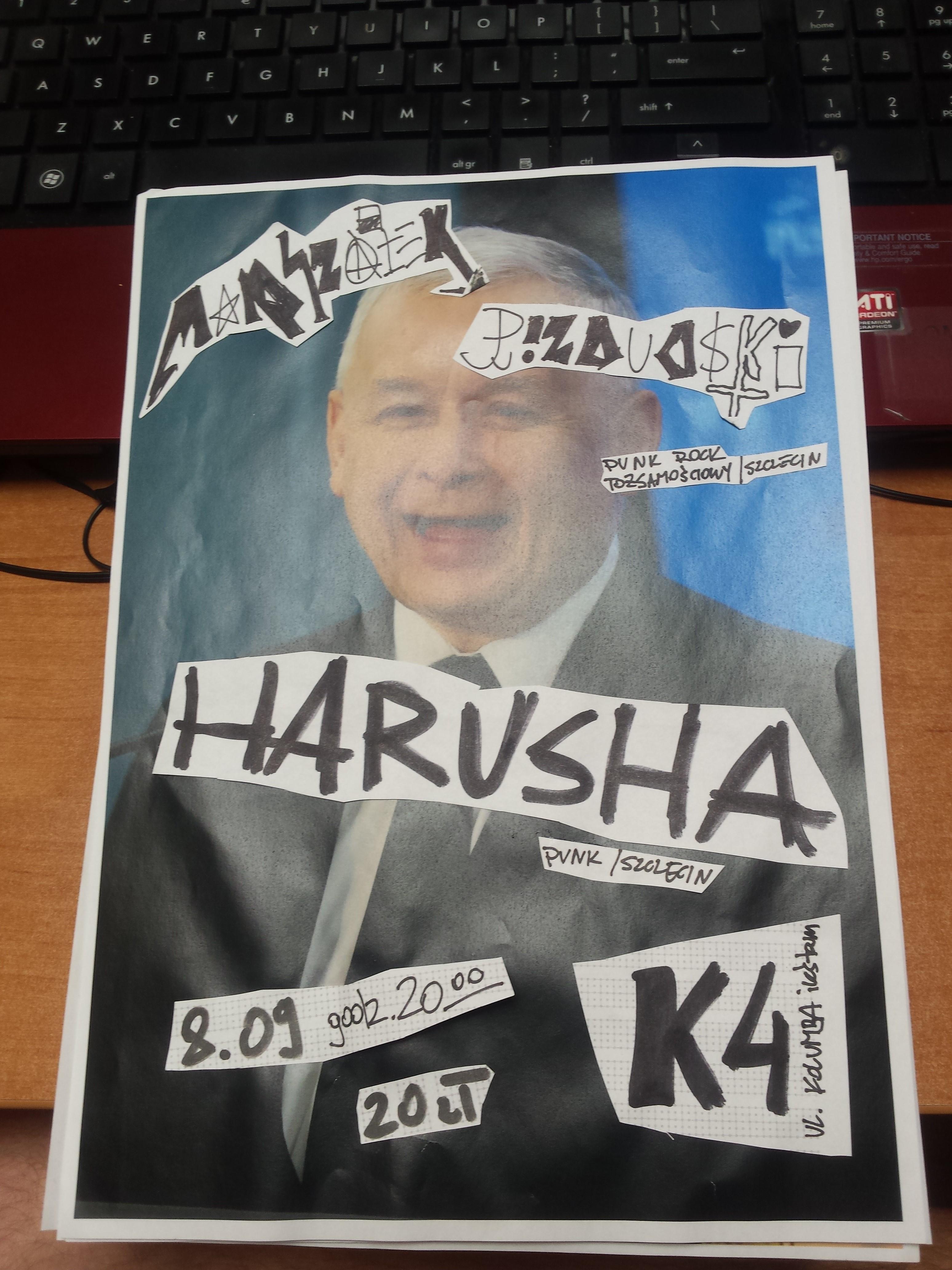 kup se oridżinal handmade collage poster plakat A4