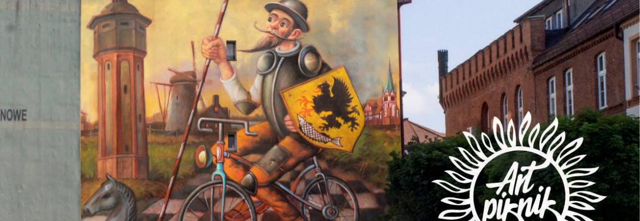 Mural Dariusza Milińskiego w Szczecinku - 6-lecie Art Pikniku
