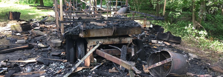 Odbudowa pasieki po pożarze