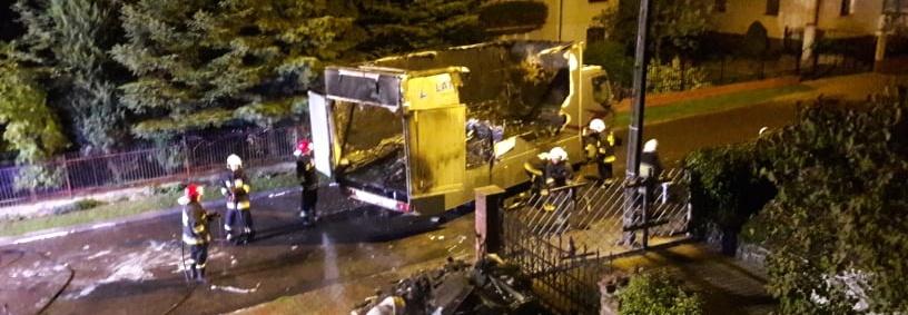 Odbudowa zespołu kartingowego po pożarze ciężarówki serwisowej.