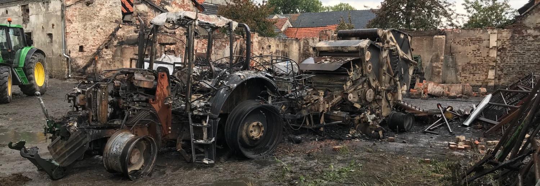Zbiórka na odbudowę gospodarstwa po pożarze