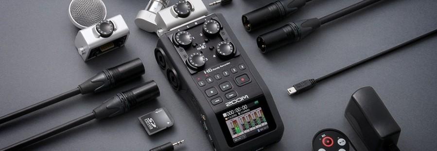 Rejestrator dźwięku Zoom H6 do prowadzenia podcastu