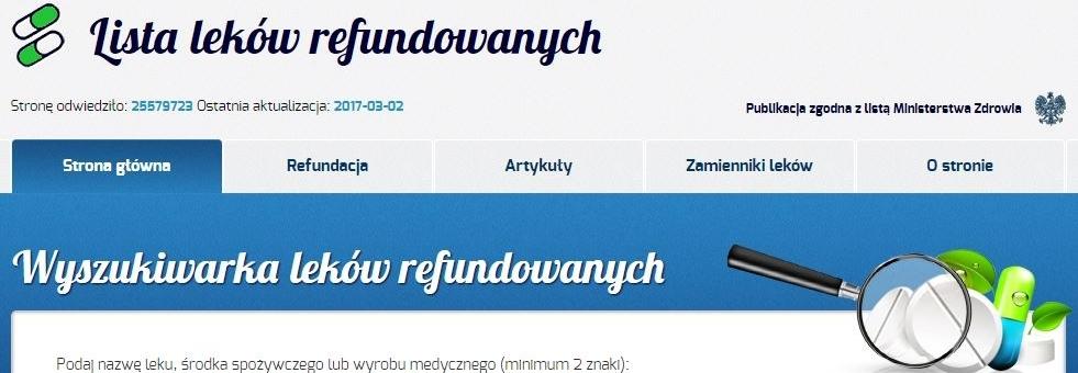 refundowaneleki.pl rozwój i utrzymanie serwisu