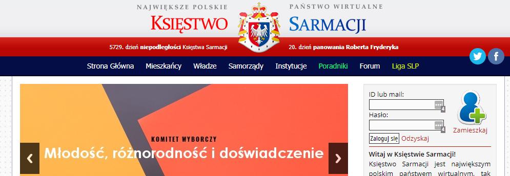 Przedłużenie domeny i serwera dla mikronacji - Księstwa Sarmacji