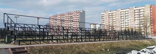 Odbudowa biało-czerwonej trybuny na stadionie Resovii