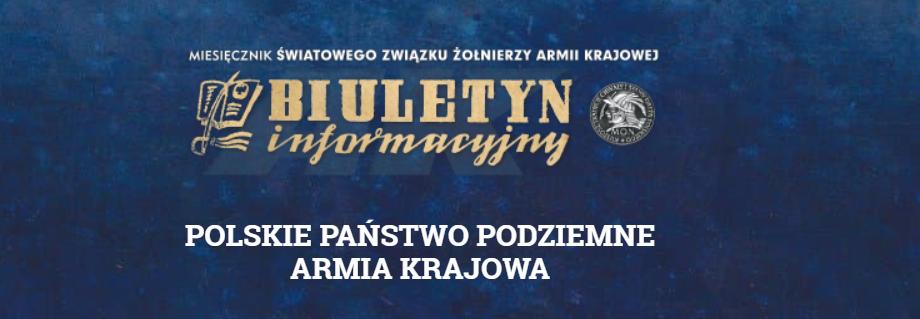 Na możliwość wydawania Biuletynu informacyjnego Światowego Związku Żołnierzy Armii Krajowej.