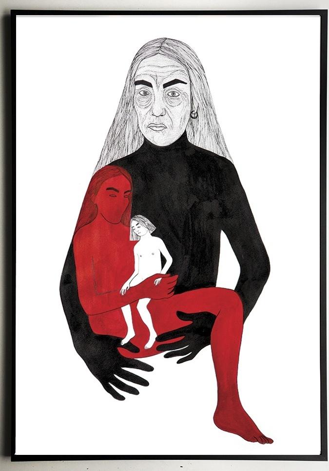 Grafika Alicji Białej