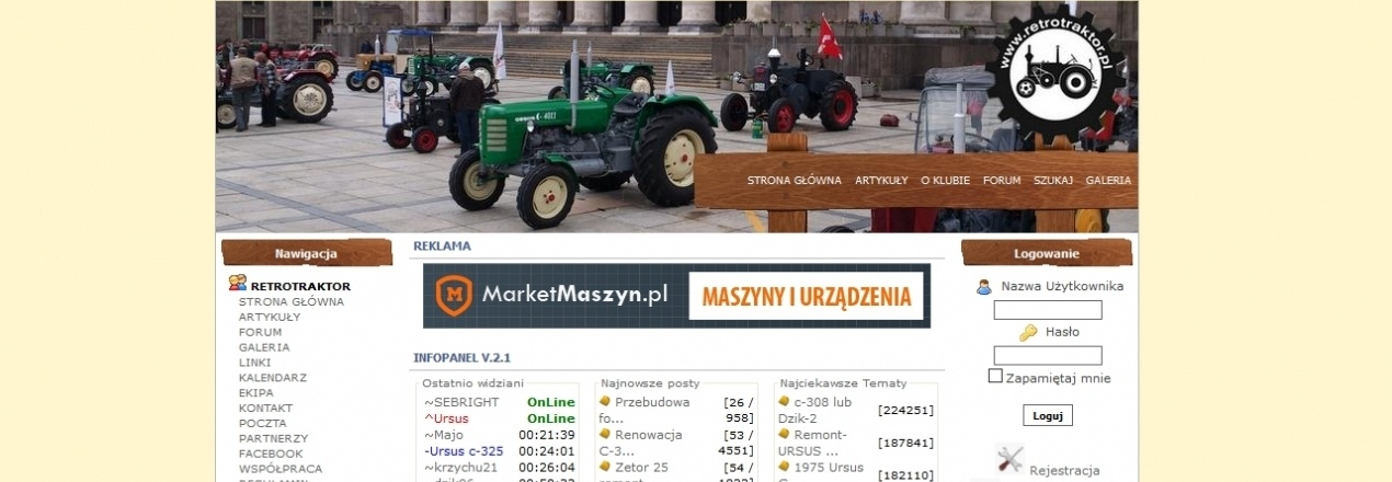 Rozbudowa portalu www.RetroTRAKTOR.pl