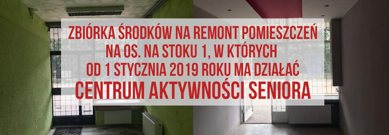 """Remont i uruchomienie Centrum Aktywności Seniora """"Na Stoku"""""""