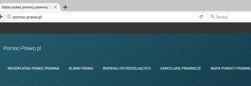 Projekt witryny informacyjnej o nieodpłatnych usługach prawnych