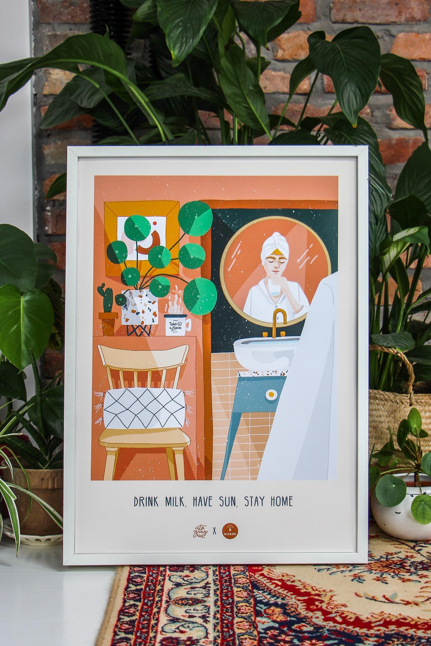 """Plakat """"Have Sun"""" autorstwa Magdy Chołaścińskiej (atogrzywy)"""