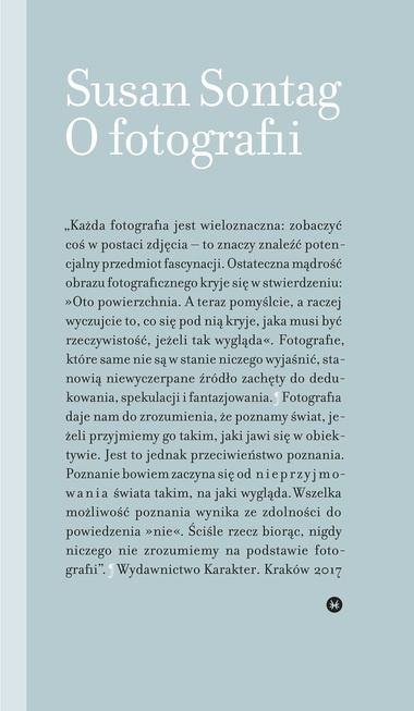 "Książka ""O fotografii"", Susan Sontag"