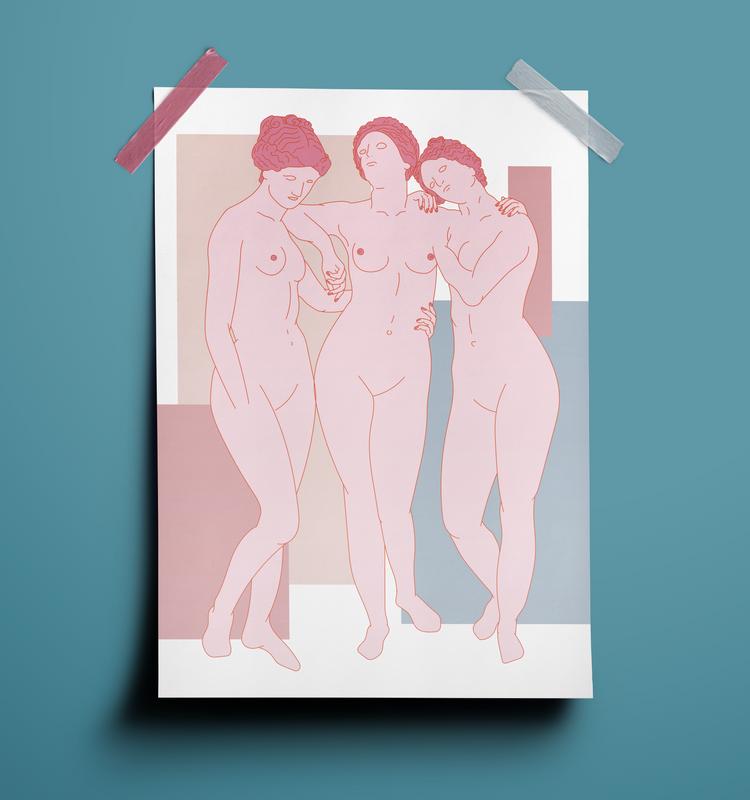 Plakat autorstwa ilustratorki Izabeli Kacprzak