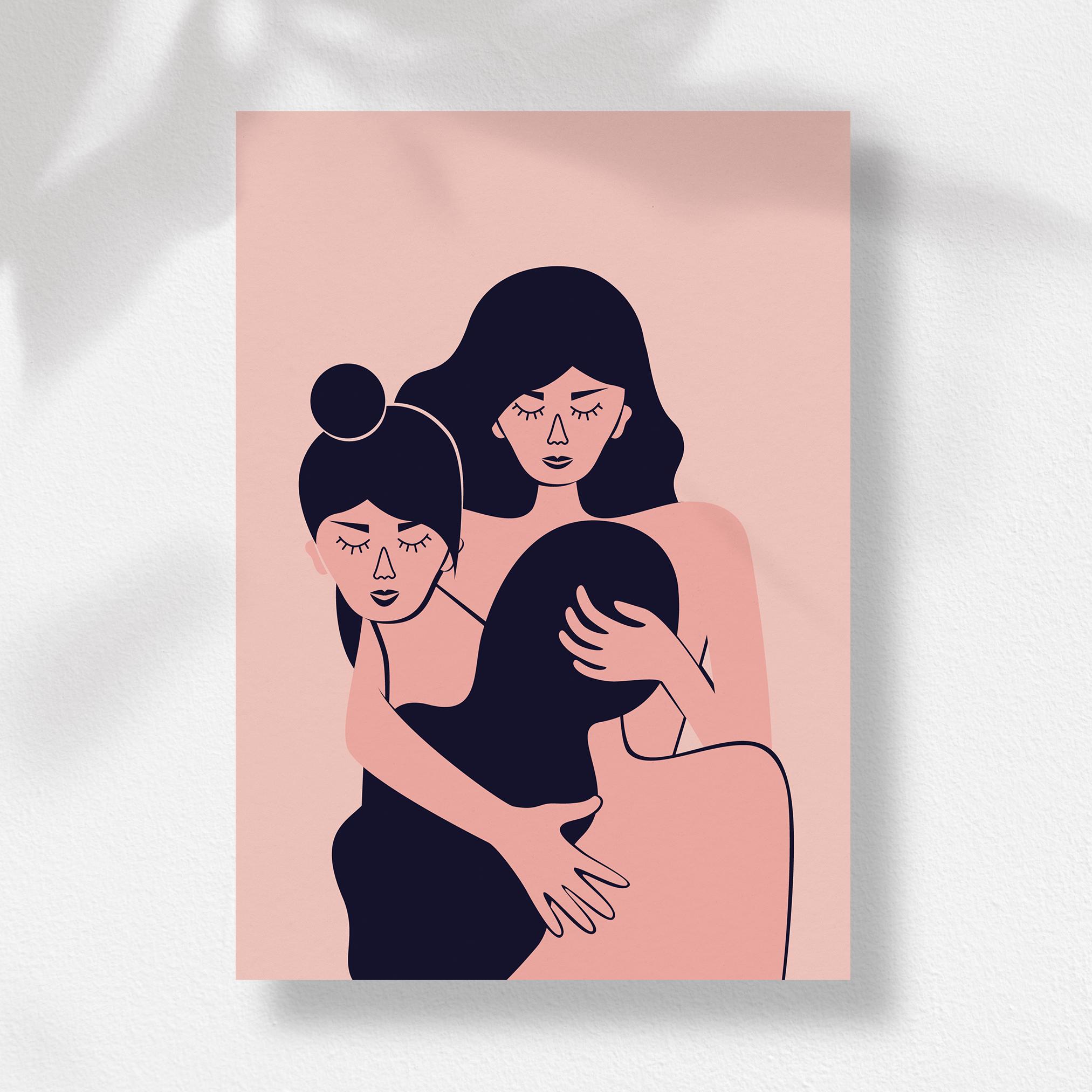 """Ilustracja Olgi Fedirko """"Dziewczyny"""""""