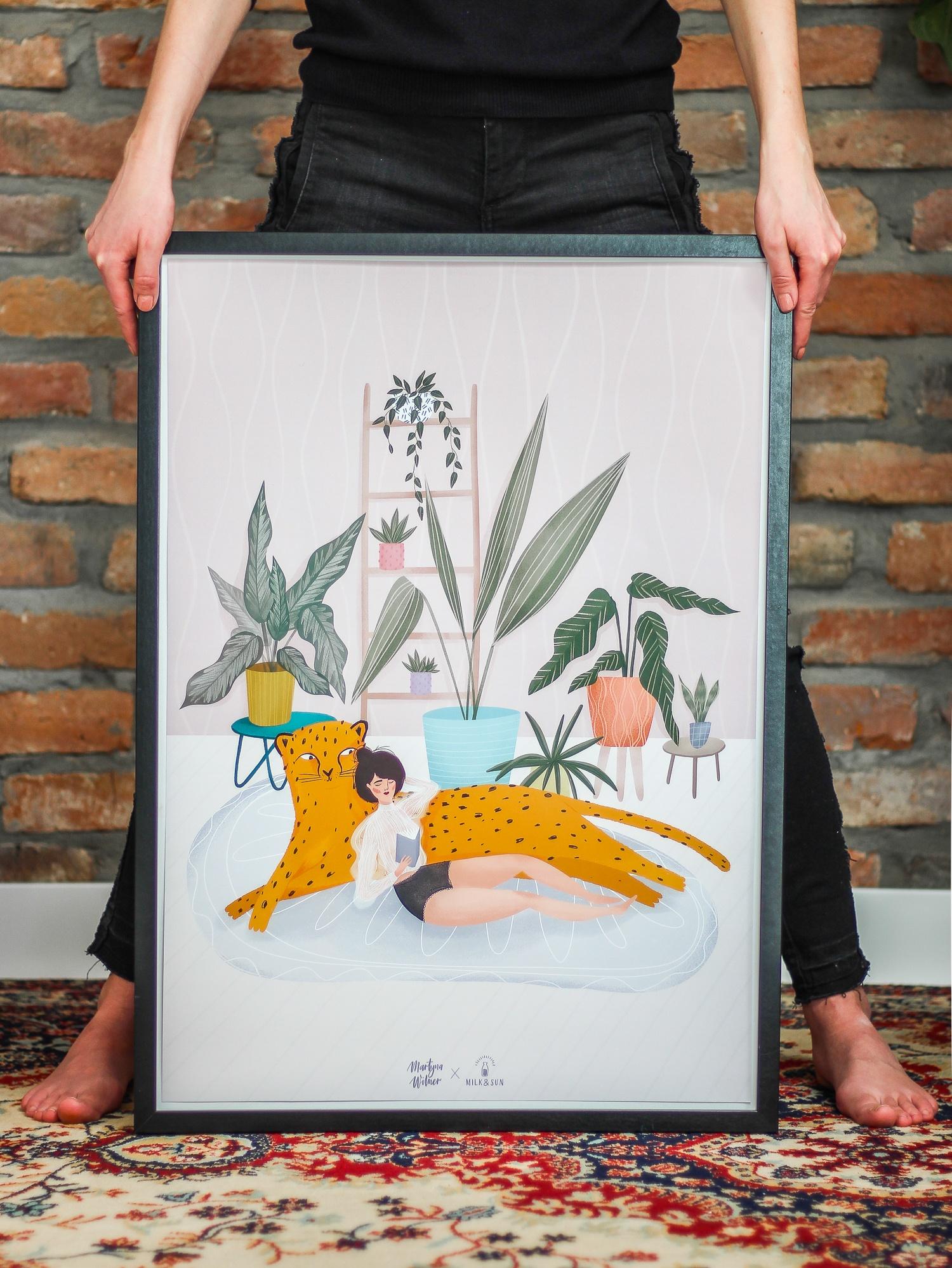 "Plakat ""Sunny Jungle"" autorstwa Martyny Wilner (Bini)"