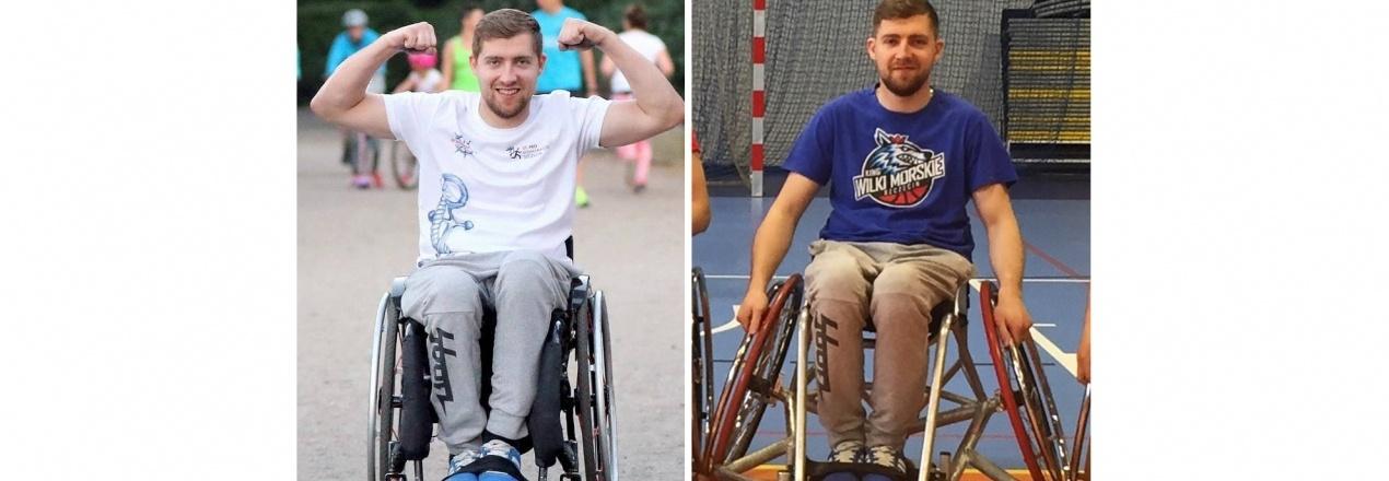 Wózek sportowy do gry w koszykówkę
