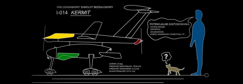 """Samolot bezzałogowy I-014 """"Kermit"""" - zbiórka na dokończenie samotnej budowy"""