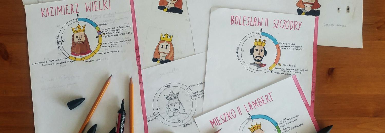 Królowie Polski: rysunkowy notatnik
