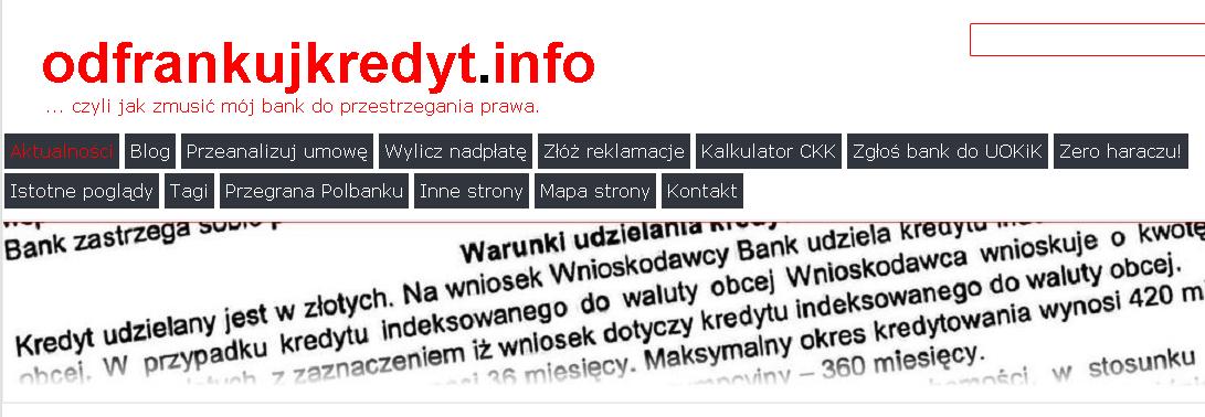Wsparcie strony odfrankujkredyt.info