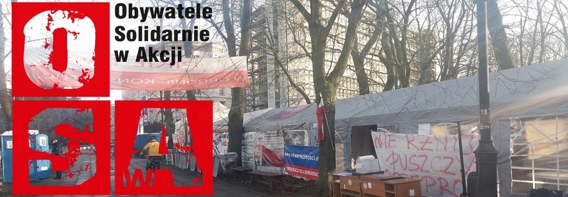 """Na zaopatrzenie i utrzymanie miasteczka namiotowego """"Wolność"""" pod Sejmem RP"""
