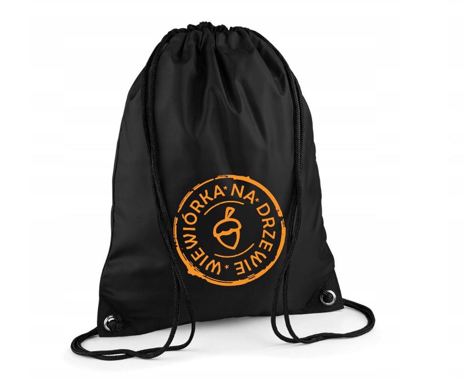 Plecako-worek z logo Wiewiórka Na Drzewie