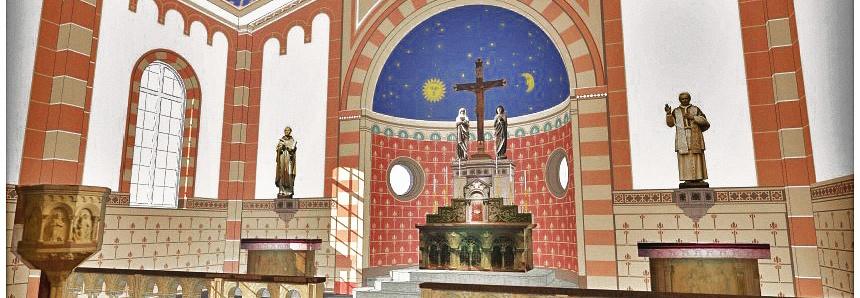 Neoromańska kaplica w Szkołach św. Tomasza z Akwinu