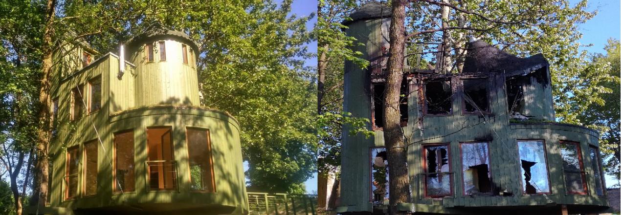 Odbudowa Zameczku na Drzewie w edukacyjno-terapeutycznym Centrum Oazy Natury