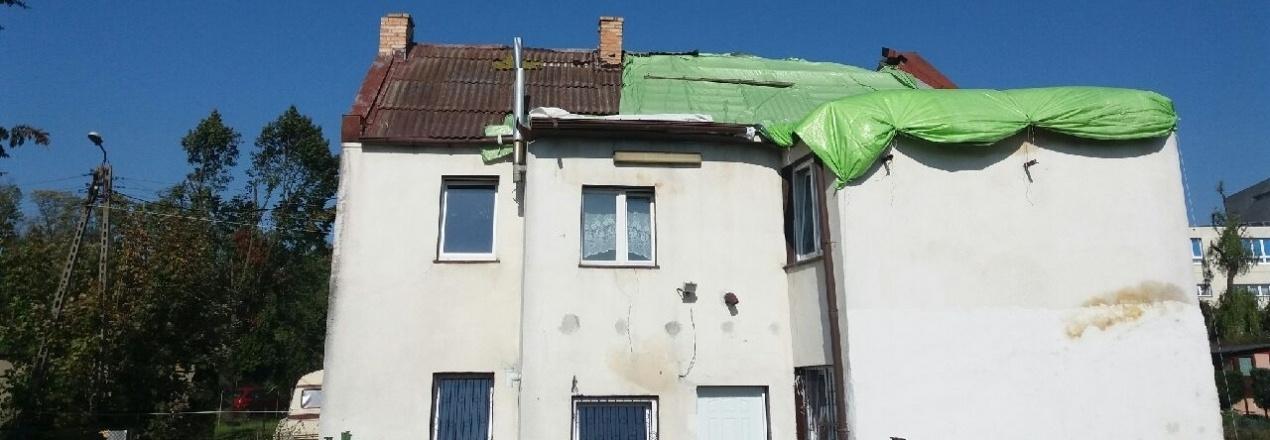 Odbudowa domu po nawałnicy 11 sierpień